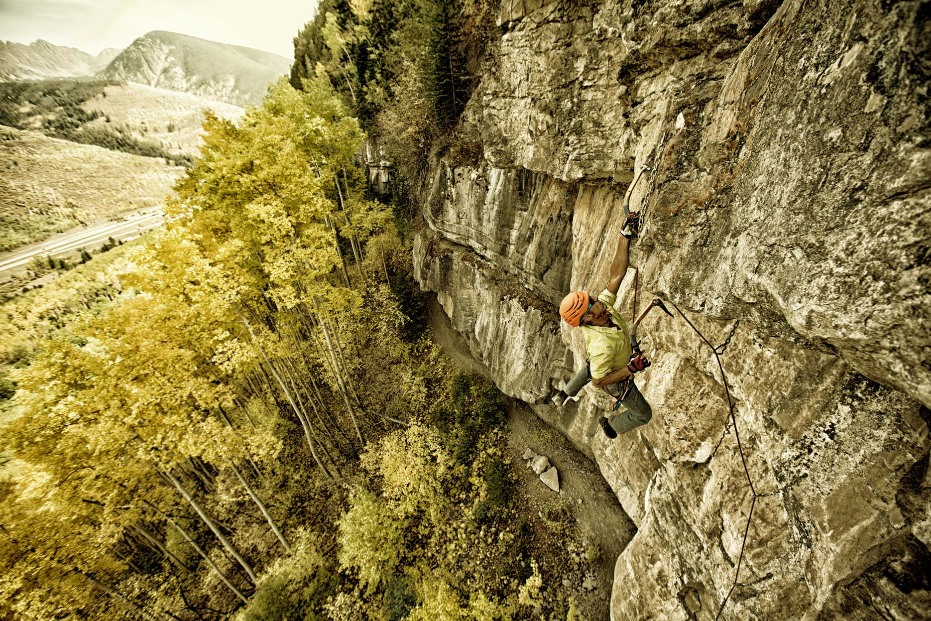 Dave Roetzl - Vail - Dry Tooling - Fall