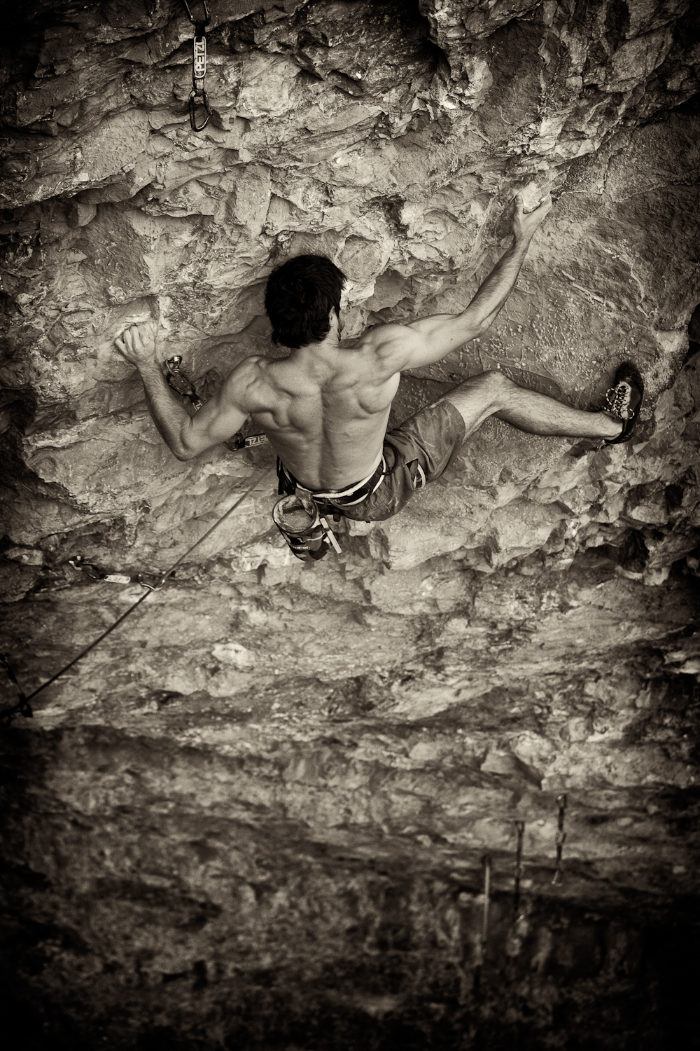 Keller Rinaudo- Climbing- Rifle- Black & White